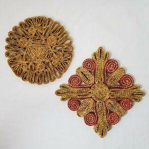 Vintage Boho Wall Decor Rattan Straw Woven Wicker